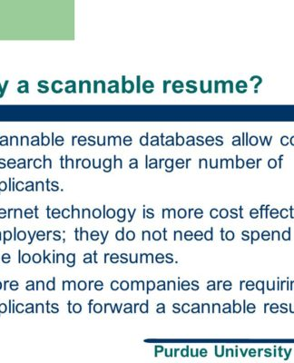 the importance of having a scannable resume professionally written