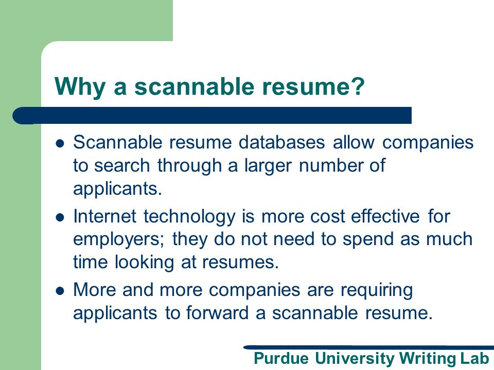 THE IMPORTANCE OF HAVING A SCANNABLE RESUME PROFESSIONALLY WRITTEN ...